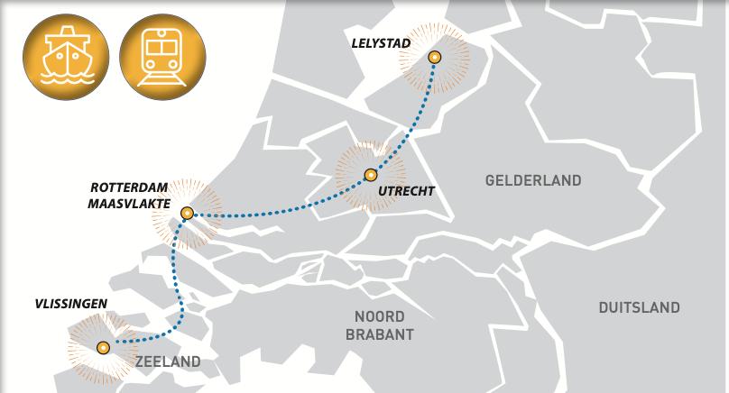 Duurzame oplossing tussen Vlissingen en Lelystad